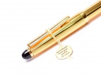 Rare 1980s Modern Reform Gold Plated Barelycorn Guilloce Two Tone Nib Fountain Pen - One of the Last Reform Fountain Pens