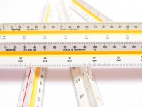 NOS Vintage Rotring Triangular Scale Ruler R8020230 - ARCHITECT 6 In Case