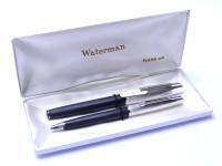 Waterman France (C/F) CONCORD Concorde Argente Rhodie Silver Rhodium 18K Gold Fountain Ballpoint Pen