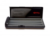 Rare Unique Black Rotring High Quality Two Lids Pen Case Box for 1 2 or 3 Fountain Ballpoint or Rollerball Pens & Pencils (R026009)