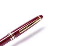 Vintage Montblanc Meisterstuck Masterpiece 164 Burgundy/Maroon Red & Gold Twist Ballpoint Pen