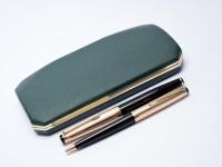 KAWECO V101 F Rolled Gold 14K Nib Fountain Ballpoint Pen