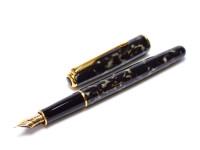 Rare 1993 Parker Sonnet Laque/Lacquer Moonbeam Marble 18K 750 F Flex Nib Fountain Pen Made in France w/ Converter