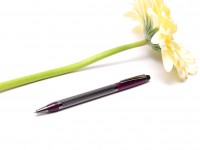 Cross Metropolis Plum Purple Lacquer & Dark Gray Chrome Twist Mechanism Ballpoint Pen