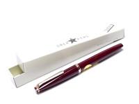 1960s Reform 4383 Burgundy Bordeaux Maroon Red Triangular Flexible EF 14K Gold Nib Fountain Pen