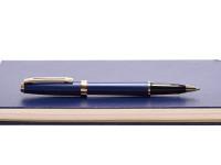 Vintage Sheaffer Prelude Dark Navy Indigo Blue Rollerball Pen USA