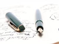 Super Rare 1960s Reform Rectangular/Square Olive Green 14K Gold Flexible F to BB Nib Piston Fountain Pen