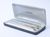 PARKER 45 UK Fountain Ballpoint Pen Set In Box