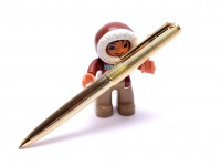 "MONTBLANC Masterpiece Meisterstuck 1846 Gold Filled Lever Clip Mechanism 11th ""Eleventh Finger"" Ballpoint Pen"