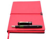 Classic Original 1930s NOS Celluloid KAWECO DIA 85 EF Extra Fine Fully Flexible to 3B 14K Nib Piston Fountain Pen