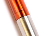 Rare Made in UK 2004 2006 NOS PARKER I.M. Profile XL Vector II Amber Crystal Transparent Orange Gel Ballpoint Pen in Box
