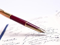 1957 Waterman C/F (CF) Gold Filled & Burgundy Red Resin - First Cartridge 18K Gold F Nib Fountain Pen