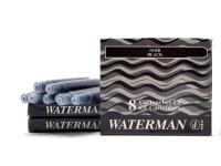 Vintage NOS (For Older Waterman Pens) WATERMAN Specific CF Style Original Made in France NOIR BLACK Fountain Pen Ink Cartridges Refills - Pack of 8