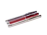 NOS New Cross Tech 3 Combo 3 in 1 Red & Black Ballpoint Multi Pen & Mechanical Pencil 0,5mm Leads + Stylus & Eraser in Box