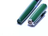 Rare 1965 All Green & Chrome Pelikan Pelikano 2nd Generation (MK10) Cartridge EF Nib Fountain Pen