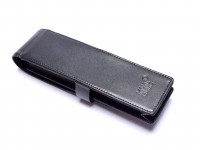 MONTBLANC Siena Meisterstück Masterpiece Black Thick Cowhide Genuine Leather Pouch Case for 2 Pens