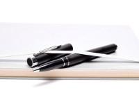 NOS Vintage Sheaffer Targa 1002 Matte Black & Silver Rollerball Pen USA