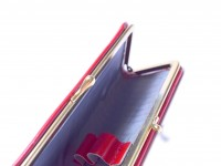 1960s Vintage Lady High Quality Genuine Red Leather With Steel Frame Pouch Case for 2 Fountain/Ballpoint Pens