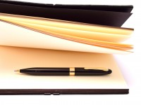 Sheaffer Crest (reissue) 591 Black & 23K Gold Electroplated Trim Twist Mechanism Ballpoint Pen