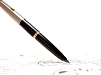 Vintage 1960s Parker 45 Student Black Body Steel X EF/XF Nib Fountain Pen Made in France