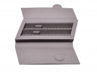 Rare Unique Grey Rotring High Quality Gift Box Pen Case Box for 2 Fountain Ballpoints or Rollerball Pens or Pencils (R026699)