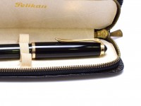 Rare Early 60's Pelikan 400NN (400) All Tortoise Black Striped - Flexible F to BB 14K Nib Gunther Wagner Fountain Pen