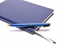 Parker Inflection Tranquil Marine Blue Lacquer Satin 14k Gold Plated Ballpoint Pen In Box