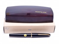 Extremely Rare Time Capsule 1960s MONTBLANC No. 32 With Exposed Thick D Nib DEF Size 14K 585 Gold Dokumentieren Fountain Pen in Box