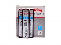Rotring Tikky Hi-Polymer 0,7mm HB Pack of 12 Leads for Mechanical Pencil