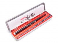 Vintage Rotring Artpen Calligraphy 1.1mm Nib Fountain Pen Made in Germany NOS In Box + Five Cartridges in Case