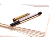 Vintage Parker Rialto F Fine Size Gold Plated Nib Cartridges/Converter Fountain Pen