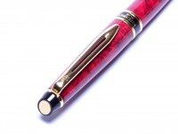 1998 Waterman EXPERT II Oriental Maroon Marble Red & Gold Ballpoint Pen Made in France