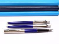 Parker Jotter M Medium Nib Fountain Pen Push Button Ballpoint Pen & Mechanical Pencil Set in Box