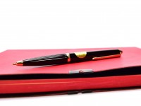 Vintage Reform No.610 High Quality Black & Gold Special Push Button Ballpoint Pen Made in Germany