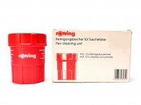 NOS Vintage Rotring Ink Pen Cleaning Unit Made in Germany + 10 Cleaner Concentrate Sachets in Box