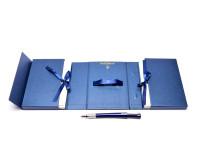 NOS New Rare Waterman Dark Blue Navy Luminous Envelope & Pen Foldable Box Holder Set 20 Envelopes & Cards IncludedNOS New Rare Waterman Dark Blue Navy Luminous Envelope & Pen Foldable Box Holder Set 20 Envelopes & Cards Included