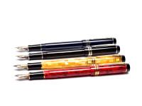 UK PARKER Duofold International Centennial MKII/MKIII Check Citrine Jasper Red Pinstripe Blue Platinum Black Fountain Pens