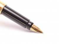 Vintage Parker Rialto M Medium size Nib Gold Plated Cartridges/Converter Fountain Pen