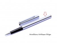 Vintage Steel Montblanc Noblesse Oblige Fountain & Rollerball Pen Body Barrel Part Spare Repair