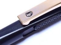 1980s W. Germany Pelikan No.1 Luigi Colani Design Black & Gold Ballpoint Pen With Refill