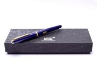 MONTBLANC Classic Generation Dark Violet Purple Blue Gold M Nib Fountain Pen