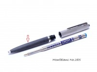 Vintage Gray Montblanc No. 285 Ballpoint Pen Lower Body & Ring Part Spare Repair