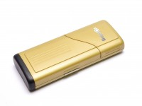 Rare Unique Gold Rotring High Quality Travel Two Lids Pen Case Box for 1 2 or 3 Fountain Ballpoint or Rollerball Pens & Pencils (R026009)