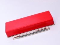 Hexagonal Chevron Pattern Caran d'Ache Ecridor Alpaca & Silver Plated Goliath Ballpoint Pen in Box