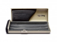 Rare Unique Silver Rotring High Quality Travel Two Lids Pen Case Box for 1 2 or 3 Fountain Ballpoint or Rollerball Pens & Pencils (R026009)