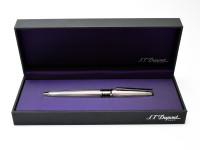 Interchangeable Ring S.T. Dupont D.Link (D-Link) Paris France Platinum Plated 18K Gold Nib Fountain Pen