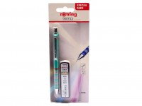 NOS New Rotring Tikky Mechanical Pencil w/ Rubberized Grip Green Color 0,5MM Leads Included
