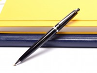 Pelikan 20 Push Button Black Resin & Chrome Ballpoint Pen