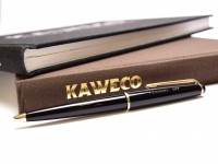 Vintage Kaweco 607 Black Resin & Gold Plated Trimmings Push Upper Body Mechanism Ballpoint Pen Made in Germany