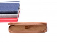 Vintage High Quality MEGA Leatherette Camel Brown Pouch for 1 Fountain Ballpoint Rollerball Pen or Pencil